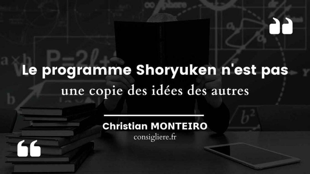 Le Programme Shoryuken n'est pas une copie des idées des autres