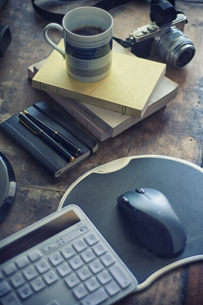 coffee, coffee mug, pen